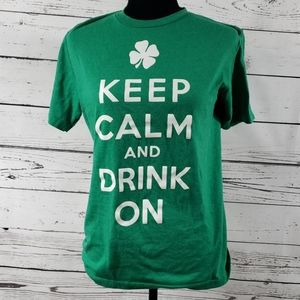 ☘ Keep Calm And Drink On St Patty's Day T Shirt!☘
